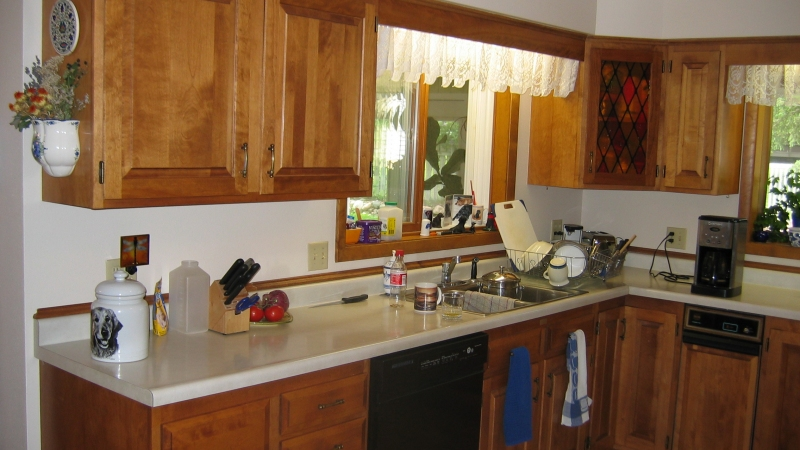 The matching kitchen done several years before the dining room