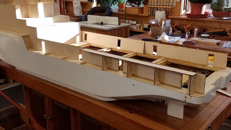 Taking a bit of liberty - upgrading the stern with laser cut panels