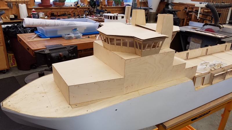Windows cut - stern taking shape