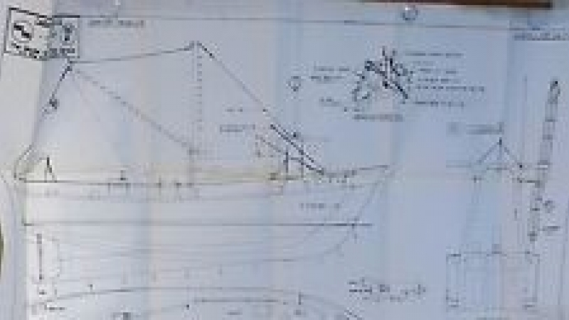 The basic hull rigging drawing