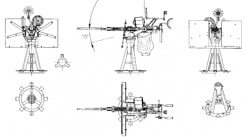 Anti-Aircraft defense included 20 MM Oerlikons