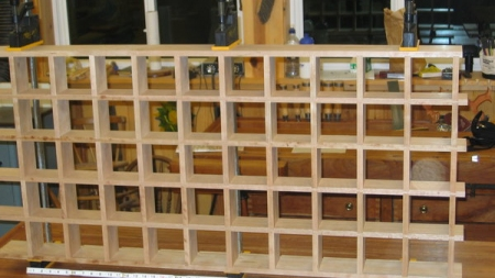 Fifty (50) hole Christmas Bell display case