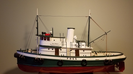 "FOSS Tugboat ""JEAN MARIE"" in 3/4"" = 1'-0"" scale"